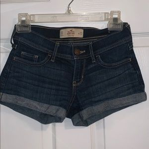 Hollister Dark Wash Lowrise Shorts